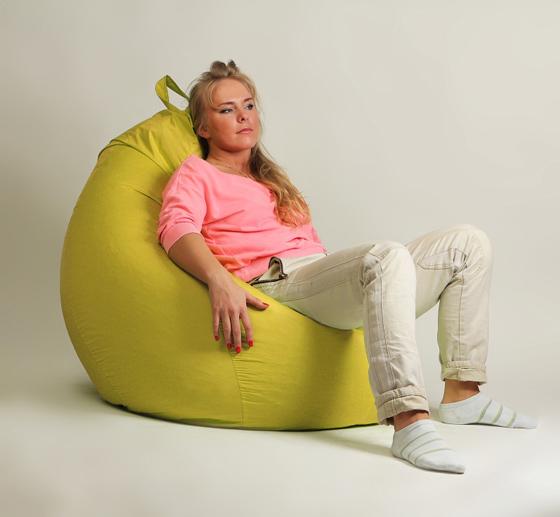 Кресло груша XXL стандарт желтое