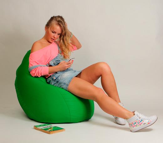 Кресло мешок Груша Детская Зеленая
