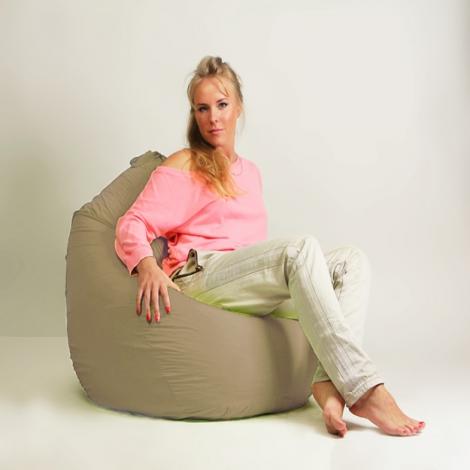 Кресло мешок груша Стандарт Бежевая