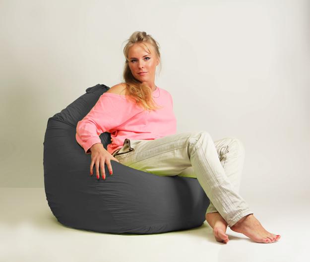 Кресло мешок груша Стандарт Серая