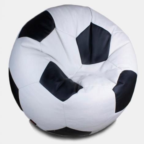 Кресло мешок футбольный мяч бело-черный