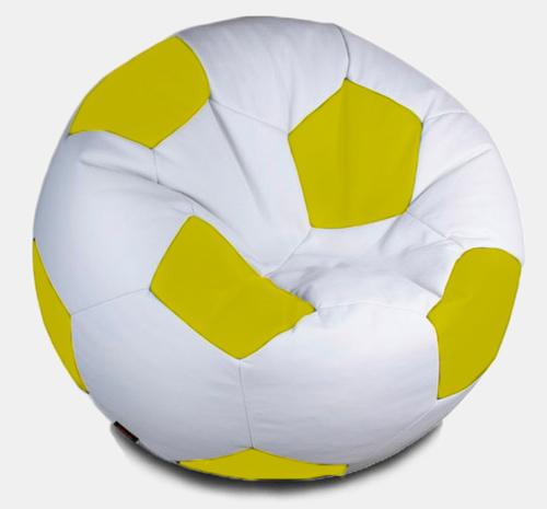 Кресло мешок футбольный мяч бело-желтый