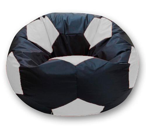 Кресло мешок футбольный мяч черно-белое