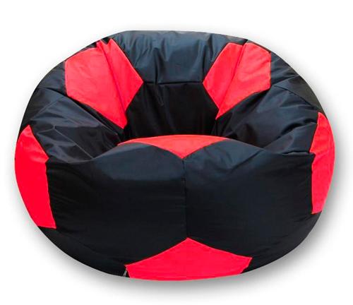 Кресло мешок футбольный мяч черно-красный