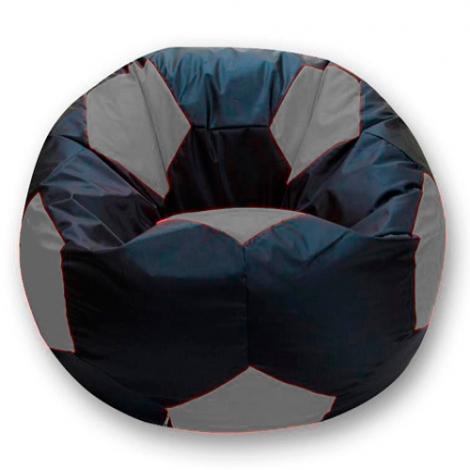 Кресло мешок футбольный мяч черно-серый