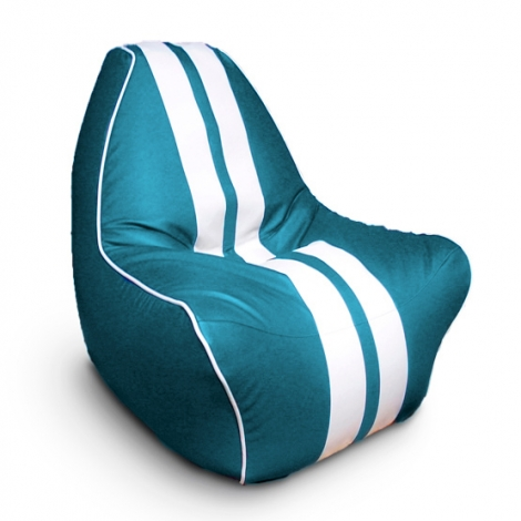 """Кресло мешок """"Ферарри"""" лазурное"""