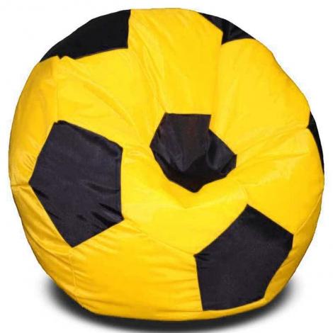 Кресло мешок футбольный мяч желто-черный