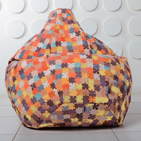 """Кресло мешок Груша XXL """"Puzzle 03"""""""