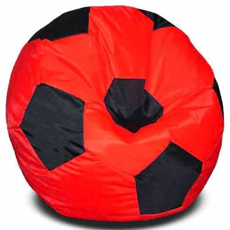 Кресло мешок футбольный мяч красно-черное