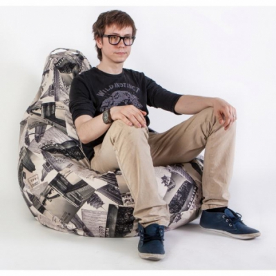 Кресло груша XXL Трэвэл Графит