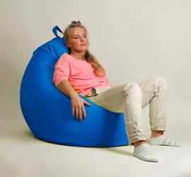 """Кресло мешок """"Груша"""" XXL стандарт Синее"""