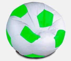 Кресло мешок футбольный мяч бело-салатовое