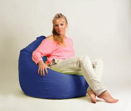 Кресло мешок груша Стандарт Синяя