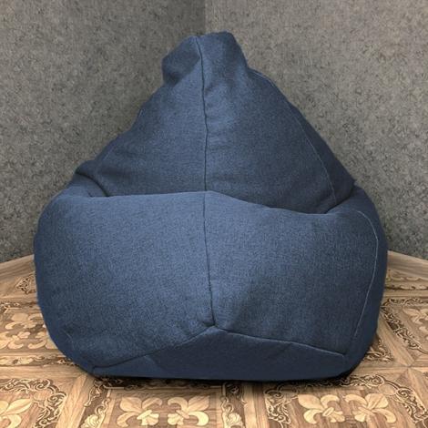 Кресло мешок груша XXL Рогожка Infinity Navy
