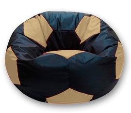 Кресло мешок футбольный мяч черно-бежевое