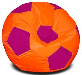 Кресло мешок футбольный мяч оранжево-фуксия