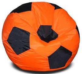 Кресло мешок футбольный мяч оранжево-черное