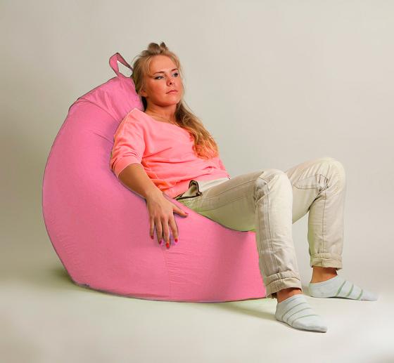 Кресло груша XXL стандарт розовое